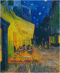 Van Gogh Cafe Terrace at Night painting