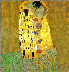 Klimt The Kiss painting