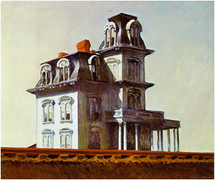 Hopper The House by the Railroad painting